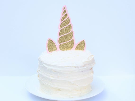 Unicorn Horn Cake Topper - Glitter - First Birthday. Smash Cake Topper. Unicorn Party Decor. Unicorn Decorations. Unicorn Cake Topper.