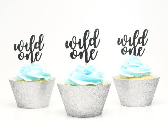 Wild One Cupcake Toppers - First Birthday