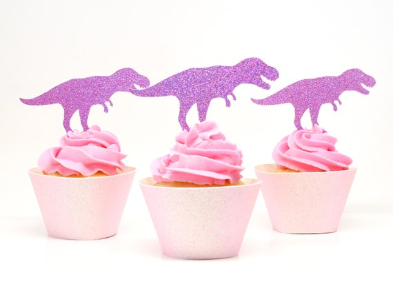 T Rex Cupcake Toppers  -  Dinosaur Birthday Party. Tyrannosaurus Rex. Dino Party Decorations.