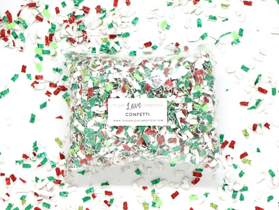 Christmas Confetti - Red + Green -- Tossing Confetti - Table Scatter - Piñata Filler - Basket Fill - Baby Shower - Confetti Toss - Holiday
