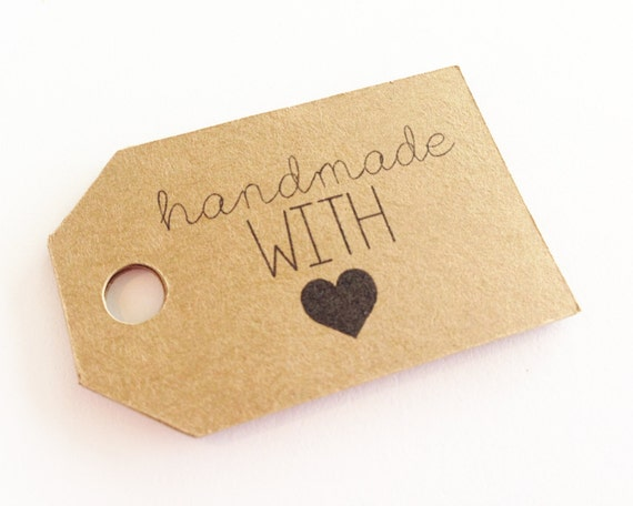 Handmade With Love Gift Tags - Kraft