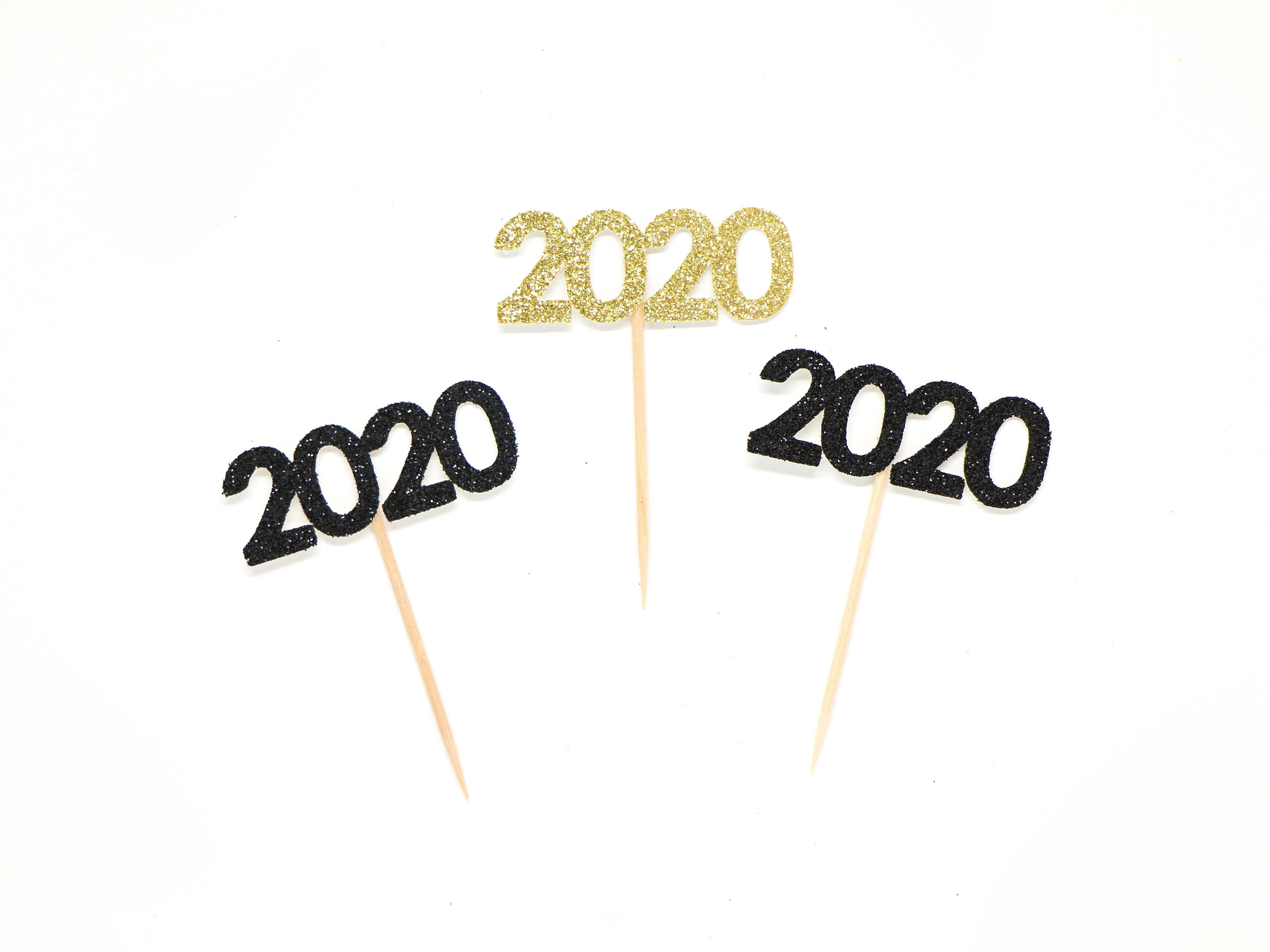 Happy Graduation 2020.2020 Cupcake Toppers Glitter Graduation Party Decor