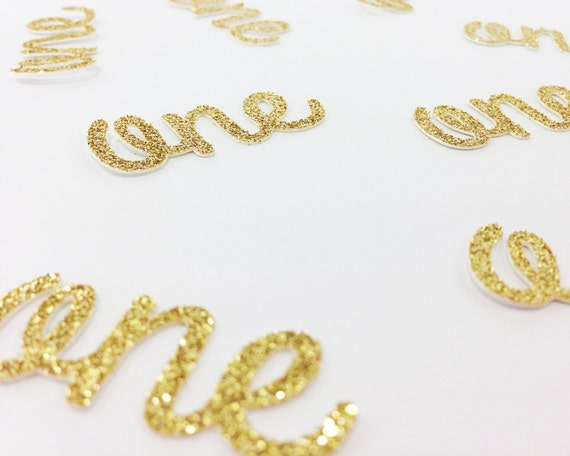 One Die Cuts - Glitter - 1.5 inch. First Birthday. Birthday Party. 1st Birthday. Highchair Decoration. One Confetti. 1 Confetti. Table Decor