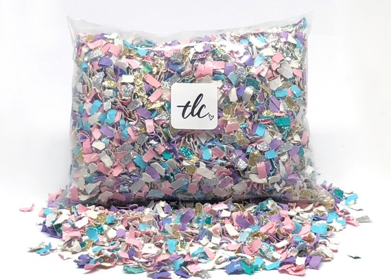 Unicorn Confetti - Pink + Purple + Blue -- Tossing Confetti - Table Scatter - Piñata Filler - Basket Fill - Baby Shower - Confetti Toss