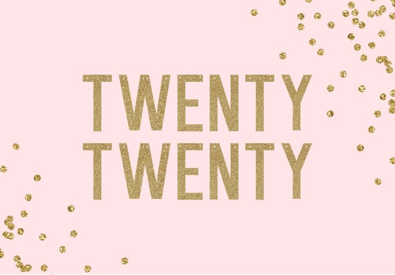 TWENTY TWENTY - Glitter Banner - New Years Eve Decorations. New Years Party Decor. 2020. Graduation 2020. New Years Eve Wedding.