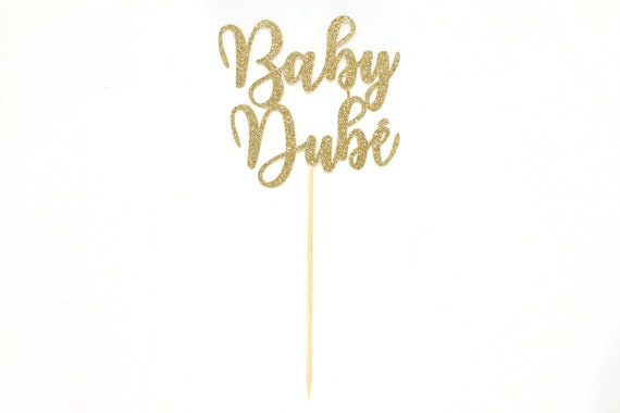 Baby Shower Cake Topper - Personalized - Glitter Cardstock - Baby Shower Cake Topper. Gender Reveal Party. Gender Reveal Cake.