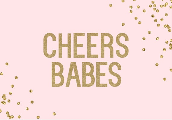 CHEERS BABES - Glitter Banner - Bachelorette Party. Cheers Bitches. Dorm Decor. Birthday Party Decor. Colorful Birthday Decorations.