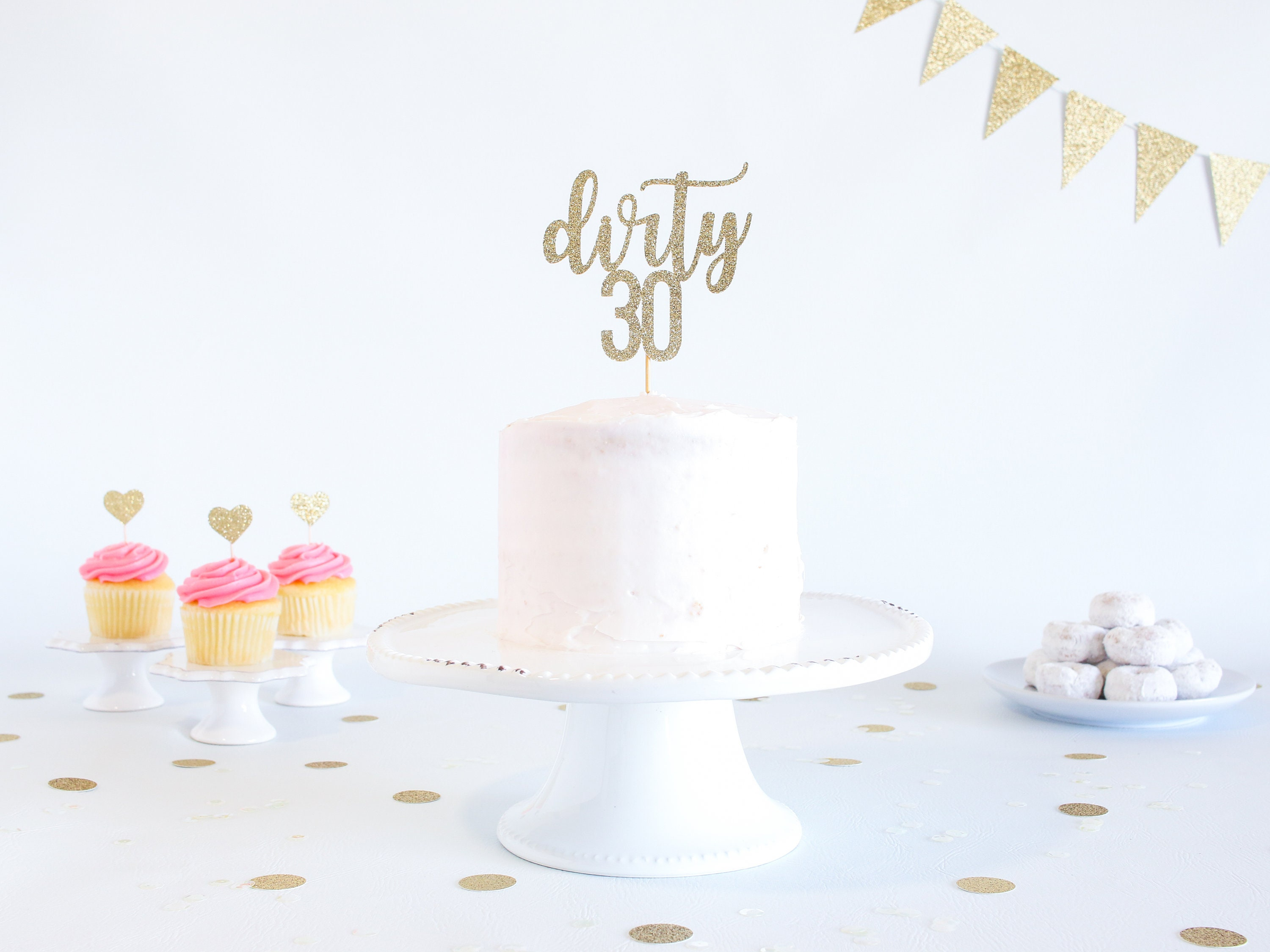 Cool Dirty 30 Cake Topper Glitter Birthday Cake Topper Funny Funny Birthday Cards Online Bapapcheapnameinfo