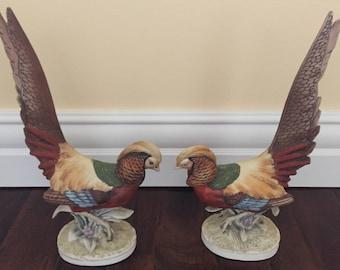Pair of Porcelain Pheasants