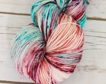 "Superwash sock yarn ""Seashells""  80/20 merino/nylon ""nymph"" blend"