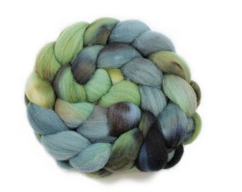Roving - Handpainted Roving - Stay Out of The Forest - Targhee Wool - 4 Ounces