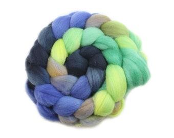 Roving - Hand Dyed Roving - Rainier - Targhee Wool - 4 Ounces