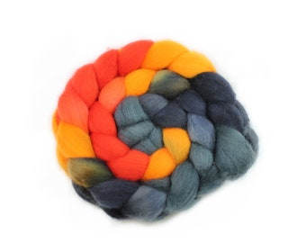 Roving - Hand Dyed Roving - Golden Gate - Targhee Wool - 4 Ounces