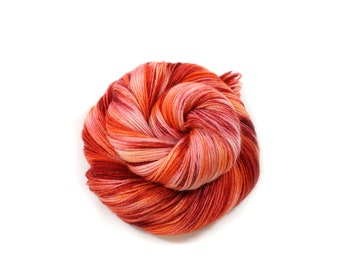 Hand dyed yarn - Corriedale Wool - hand dyed fingering weight yarn - 400 yards - Sock Yarn - fingering weight yarn - Jester Fiesta