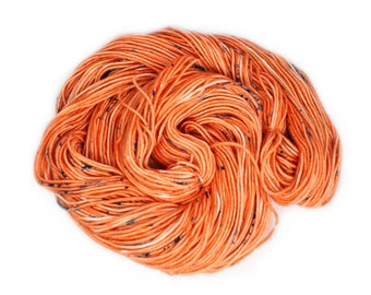 Hand Dyed Yarn - Dyed Yarn - 100% Superwash Merino - DK Weight - Coral Speckles - 200 Yards