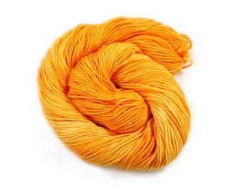 Hand Dyed Yarn - DK Weight - Dyed Yarn - 100% Superwash Merino - 200 Yards - Grabber Orange