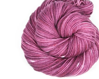Hand Dyed Yarn - 100% Superwash Merino - DK Weight - Concord Semi Solid - 200 Yards