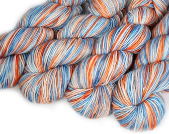 Hand Dyed Yarn - Dyed Yarn - 100% Merino - DK Weight - Coral Reef - 200 Yards