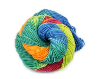 Hand Dyed Yarn - Dyed Yarn - 100% Superwash Merino - DK Weight - 200 Yards - My Jam