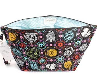 Project Bag - Knitting Project Bag - Yarn Bag - Zipper Project Bag - Star Wars
