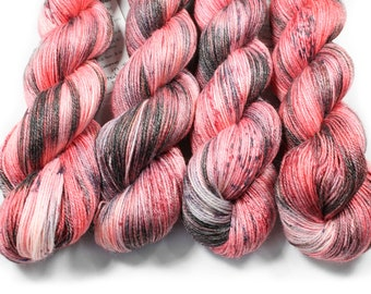 Hand painted yarn - hand dyed yarn - dyed yarn - hand dyed fingering weight yarn - 400 yards - fingering weight yarn - Love in the Shadows