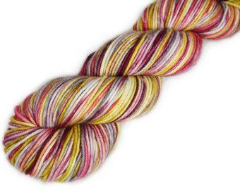 Hand Dyed Yarn - Dyed Yarn - 100% Superwash Merino - DK Weight - Winter Lily - 200 Yards