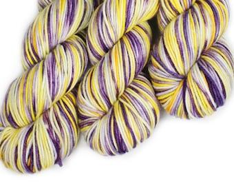 Hand Dyed Yarn - Dyed Yarn - 100% Superwash Merino - DK Weight - Uplifting Lavender - 200 Yards