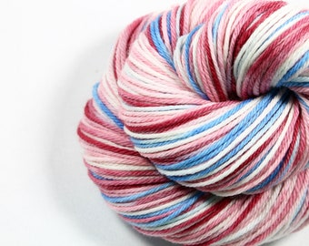 HandPainted Yarn - Hand painted yarn - hand dyed yarn - Worsted Weight yarn - Merino Yarn - Worsted weight - dyed yarn - Cherry Blossom