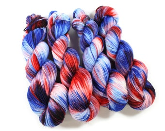 Hand dyed yarn - Corriedale Wool -  hand dyed fingering weight yarn - 400 yards - Sock Yarn - fingering weight yarn - VOTE