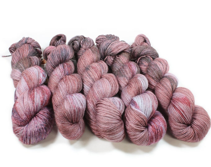 Featured listing image: Hand dyed Yarn - Hand painted yarn - dyed yarn - hand dyed fingering weight yarn - 400 yards - fingering weight yarn - Purple People Eater