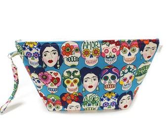 Project Bag - Knitting Project Bag - Yarn Bag - Cosmetic Bag - Bag with Divider - Zipper Project Bag - Gotas De Amor