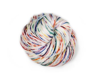 Hand painted yarn - hand dyed yarn - dyed yarn - hand dyed fingering weight yarn - 400 yards - fingering weight yarn - Rainbow Sprinkles