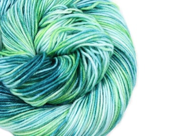 Hand Dyed Yarn - Dyed Yarn - 100% Superwash Merino - DK Weight - 200 Yards - Sea Turtle