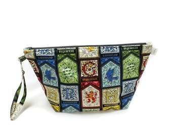 Project Bag - Knitting Project Bag - Yarn Bag - Cosmetic Bag - Bag with Divider - Zipper Project Bag - Harry Potter