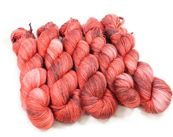 Hand dyed Yarn - Hand painted yarn - dyed yarn - hand dyed fingering weight yarn - 400 yards - fingering weight yarn - Jester Red