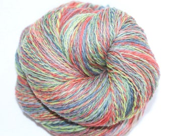 Hand Spun Yarn - Hand Painted Yarn - Denim Day - Fingering Weight Yarn - 4 Ounces - 2 Ply Handspun yarn - 635 Yards