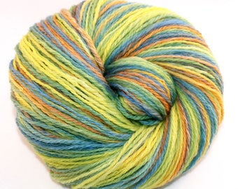 Handspun Yarn - Chameleon - Falkland wool, DK Weight, 345 yards