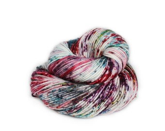 Hand Dyed Yarn - Dyed Yarn - 100% Superwash Merino - DK Weight - Spring Speckles - 200 Yards