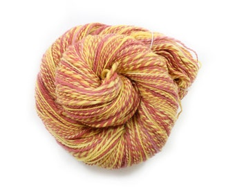 Handspun Yarn - Gryffindor  - Merino, Worsted Weight, 290 yards