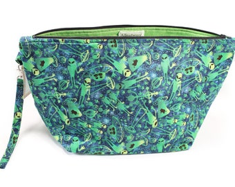 Project Bag - Knitting Project Bag - Yarn Bag - Zipper Project Bag - Alien