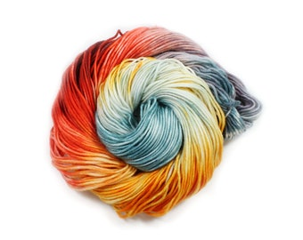 Hand Dyed Yarn - Dyed Yarn - 100% Superwash Merino - DK Weight - 200 Yards - Golden State