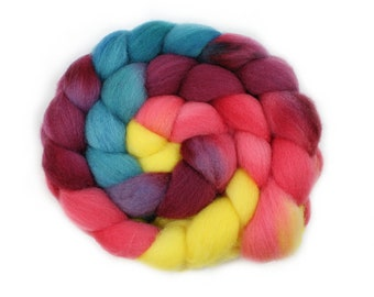 Roving - Handpainted Roving - Unicorn - Falkland Wool - 4 Ounces