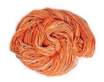 Hand Dyed Yarn - Dyed Yarn - 100% Superwash Merino - DK Weight - Coral Speckles - 200 Yards