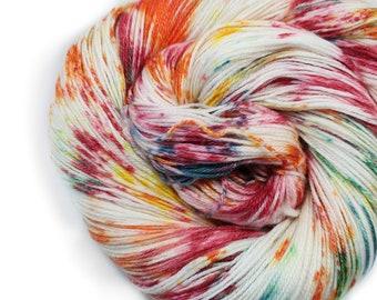 Hand dyed Yarn - Hand painted yarn - dyed yarn - hand dyed fingering weight yarn - 400 yards - fingering weight yarn - Citrus Bright