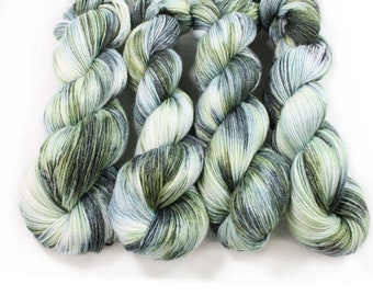 Hand dyed Yarn - Hand painted yarn - hand dyed fingering weight yarn - 400 yards - fingering weight yarn - Stay out of the Forest