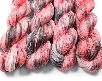 Hand painted yarn - hand dyed yarn - dyed yarn - hand dyed fingering weight yarn - 400 yards - fingering weight yarn - Love in the Shadows