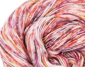 Hand dyed Yarn - Hand painted yarn - dyed yarn - hand dyed fingering weight yarn - 400 yards - fingering weight yarn - Speckled Flower Burst