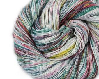 Hand dyed Yarn - Hand painted yarn - dyed yarn - hand dyed fingering weight yarn - 400 yards - fingering weight yarn - Lovely Lake