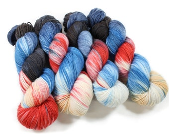 Hand dyed yarn - Corriedale Wool - hand dyed fingering weight yarn - 400 yards - Sock Yarn - fingering weight yarn - A Good Book
