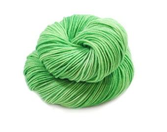 Hand Dyed Yarn - DK Weight - Dyed Yarn - 100% Superwash Merino - 200 Yards - Lime